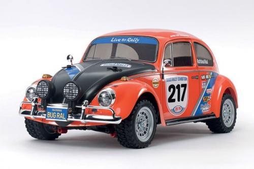 Radiostyrd bil, bubblan röd och svart  R/C VW BEETLE RALLY