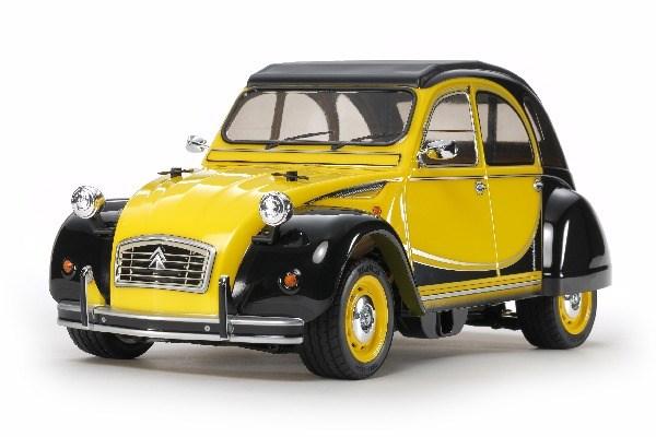Radiostyrd bil, svart och gul R/C CITROËN 2CV CHARLESTON