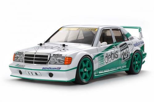 Radiostyrd bil, grön och vit racerbil R/C MERCEDES-BENZ