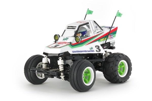 Radiostyrd bil, Monster Truck, vit och grön  R/C COMICAL GRASSHOPPER
