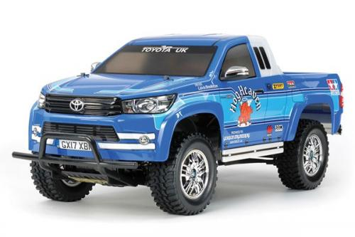 Radiostyrd bil, blå jeep  R/C TOYOTA HILUX EXTRA CAB