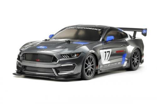 Radiostyrd bil, racerbil grå  R/C FORD MUSTANG GT4