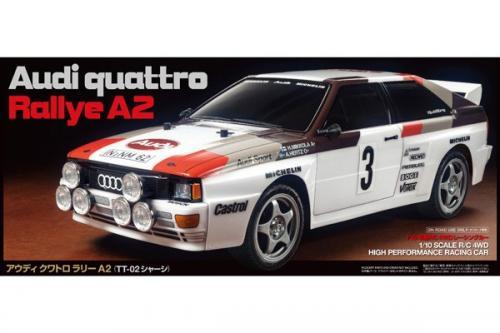 R/C AUDI QUATTRO RALLYE A2 (TT-02) 1/10