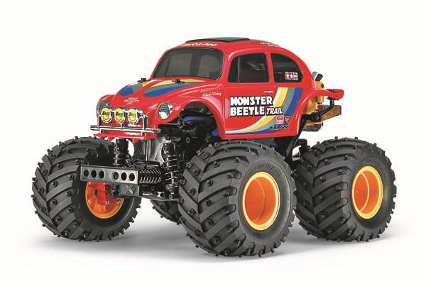 Radiostyrd bil, Monster Truck, röd R/C MONSTER BEETLE TRAIL