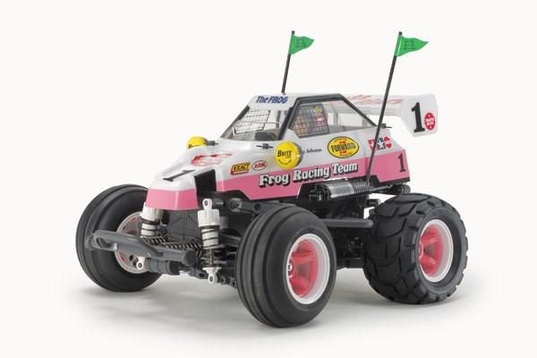 Radiostyrd bil, Monster Truck, vit och rosa R/C COMICAL FROG