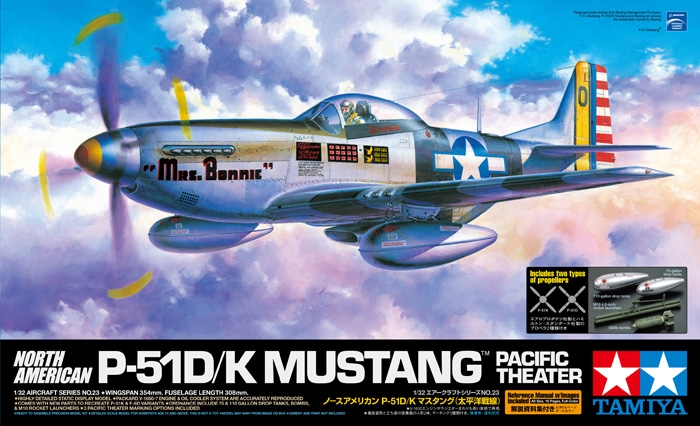 "North American P-51D, P-51K, F-6D Mustang ""Pacific Theater"" 1/32"