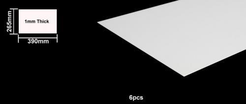 Foam Board 1mm B4 Size - 6pcs