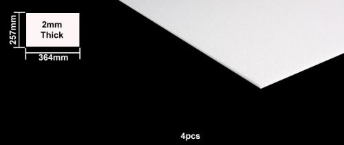 Foam Board 2mm B4 Size - 4pcs
