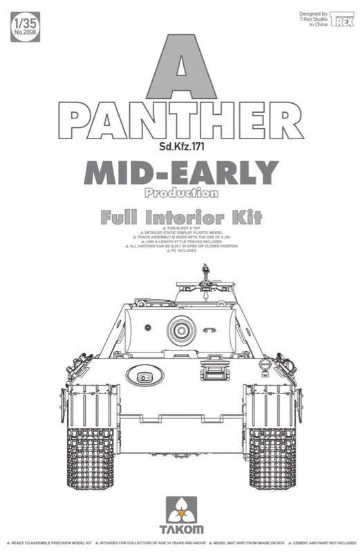 WWII German Tank  Sd.Kfz.171 Panther A mid-early production w/ full interior kit 1/35