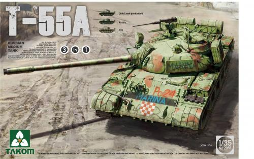 Russian Medium Tank T-55A (3 in 1) 1/35