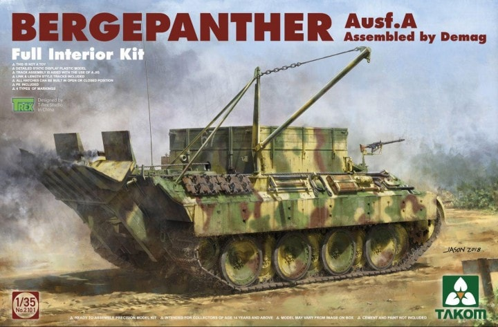 Bergepanther Ausf.A Assembled by Demag production w/ full interior 1/35