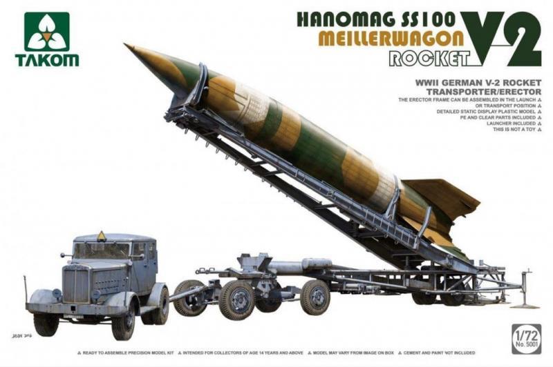 V-2 Rocket, Hanomag SS100 & Meillerwagen 1/72