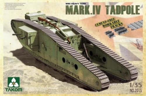 WWI Heavy Battle Tank Mark IV Male Tadpole w/Rear mortar 1/35