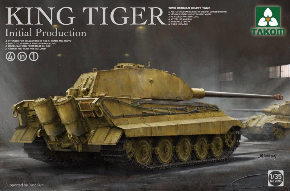 WWII German heavy tank King Tiger initial production 4 in 1 1/35
