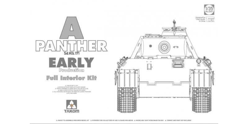 WWII German Tank  Sd.Kfz.171 Panther A early production w/ full interior kit 1/35