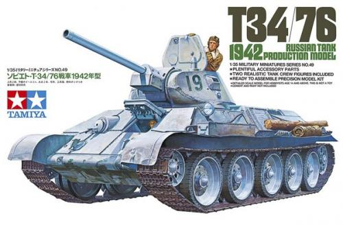RUSSIAN TANK T34/76 1942 PRODUCTION MODEL 1/35