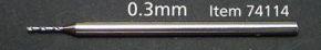Fine Pivot Bit 0.3mm shank 1mm
