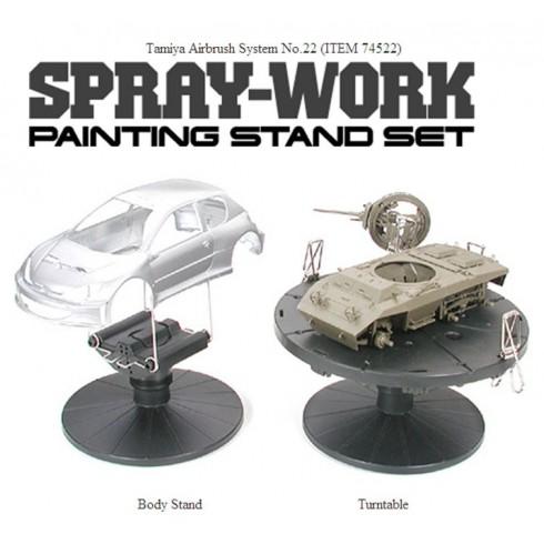 Spray Work Painting Stand Set