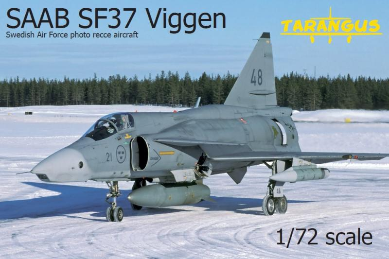 SAAB SF37 Viggen - Photo Recon Aircraft 1/72