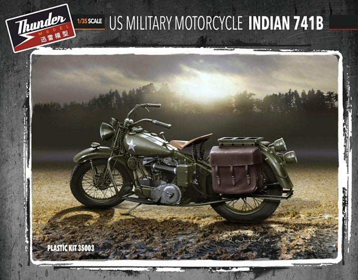US MILITARY MOTORCYCLE INDIAN 741B 1/35