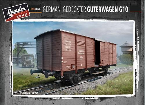 GERMAN GEDECKTER GÜTERWAGEN G10 1/35