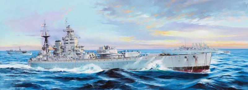 HMS Nelson 1944 L.108 cm 1/200
