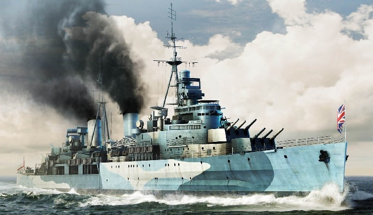 HMS Belfast 1942 B2671 1/350