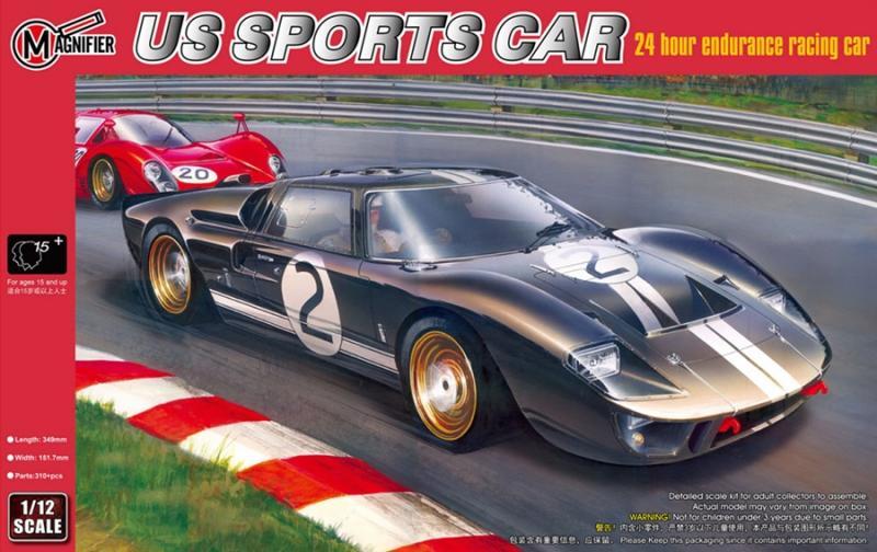 FORD GT40 MK.II LEMANS WINNER 196 (No Trumpeter but Magnifier Brand) 1/12