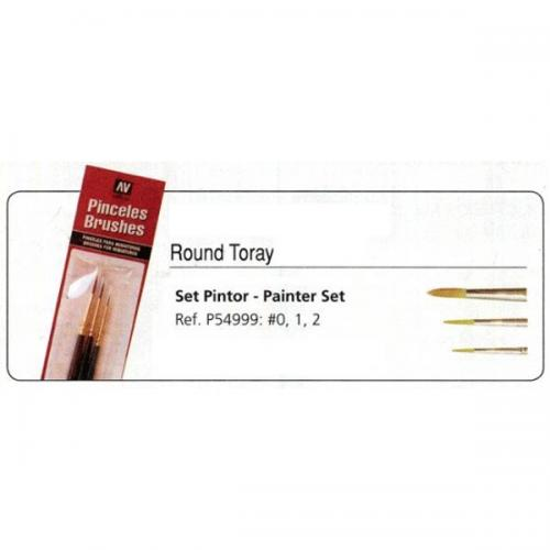 Round Toray Brush Set 0, 1 & 2