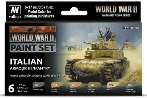 WWII ITALIAN ARMOUR & INFANTRY 6X17ML