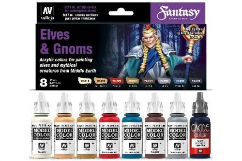 FANTASY COLOR SERIES ELVES & GNOMES (x8)