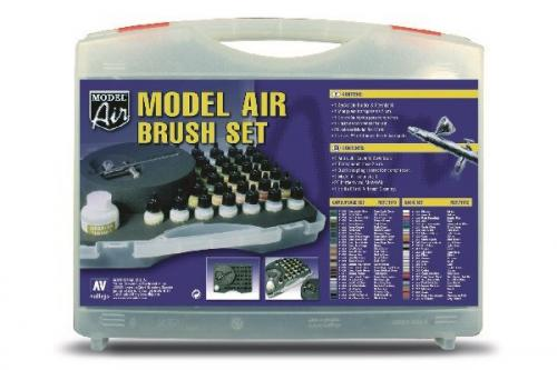 MODEL AIR BRUSH SET, CAMOUFLAGE (29) + AIRBRUSH