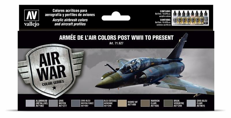 ARMÉE DE L'AIR COLORS POST WWII TO PRESENT