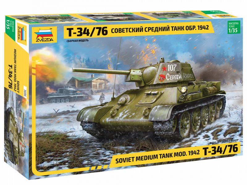 T-34/76 mod. 1942 Soviet Medium Tank 1/35