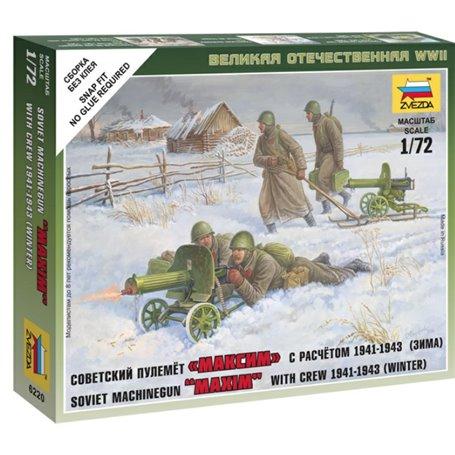 Soviet Machine-gun w/Crew (Winter Unif.) - SNAP 1/72