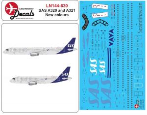 Airbus A321 incl. SAS new livery decal 1/144