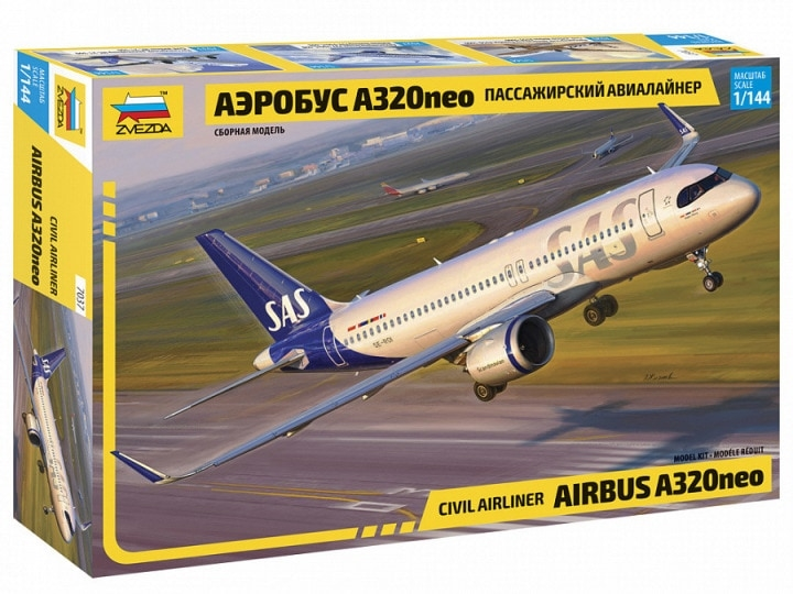 Airbus A320NEO w. SAS new livery decal 1/144