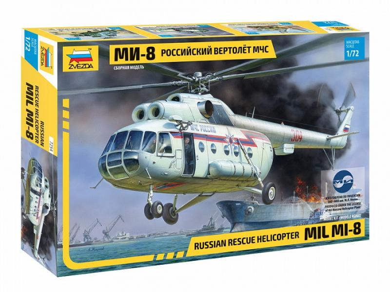 MIL MI-8 Rescue Helicopter 1/72