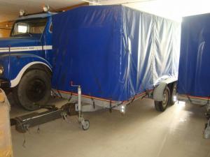 Bilsläpvagn boggie i nyskick med 60mm kula