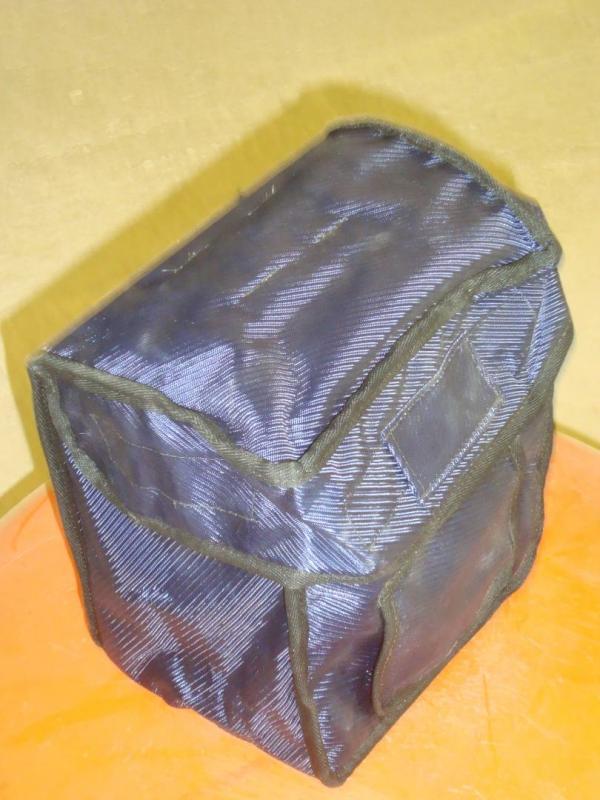 Fodrad väska med fäste för bälte
