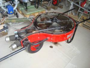Hydraulisk pump för oljeförorenat vatten mm
