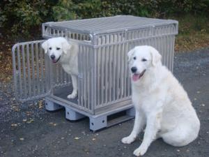 Hundbur i aluminium