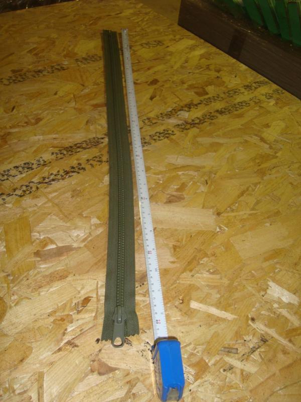 Dragkedja   ´grön  plast 80 cm