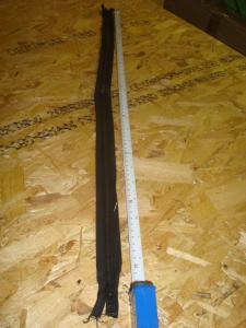 Dragkedja   mässing  svart  80 cm
