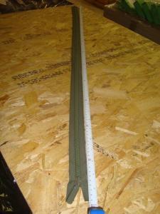 Dragkedja   ´grön  plast 115 cm