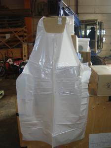 Engångsförkläde i plast