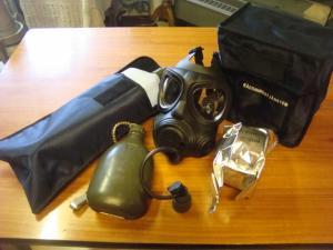 Skyddsmask 90  Gasmask 90 NY Komplett sats. Filter med aktivt kol ! OBS SLUTSÅLD!