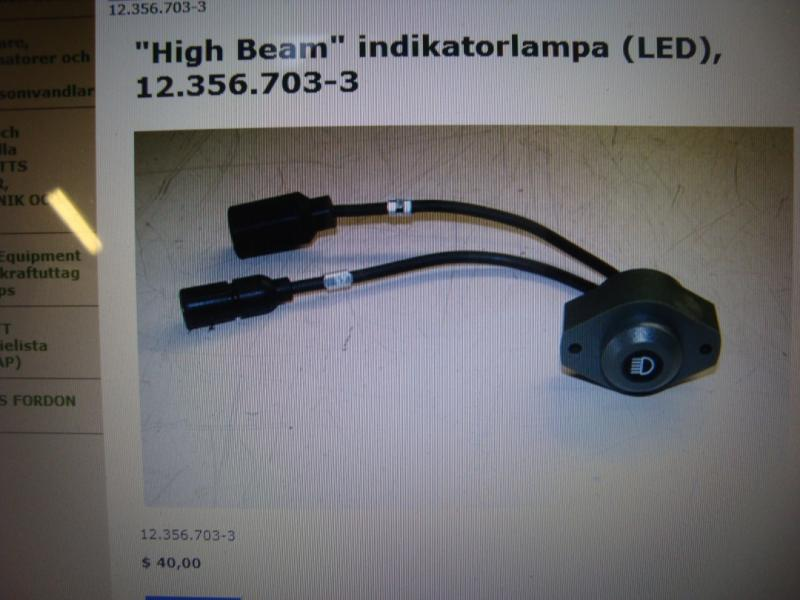 Hummer H1 reservdelar helljusindikatorlampa! nr 12-356-703-3