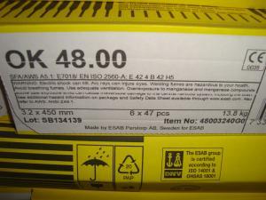 Esab Svetselektroder ok 48.00 3,2 mm hel kartong 13,8kg. Vacpac!