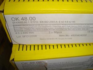 Esab Svetselektroder ok 48.00 4,0 mm hel kartong 18,6kg